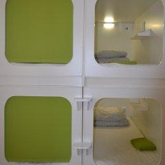Capsule hostel in Moscow Кровать в общем номере с двухъярусной кроватью фото 4