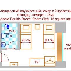 Аскет Отель на Комсомольской 3* Бюджетный номер с разными типами кроватей фото 12