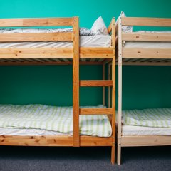 Хостел Достоевский Кровати в общем номере с двухъярусными кроватями фото 20