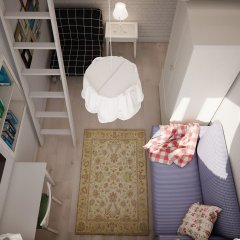 Хостел КойкаГо Номер Эконом с разными типами кроватей (общая ванная комната) фото 5