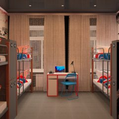 Hostel Racing Paradise Кровать в общем номере с двухъярусной кроватью фото 9