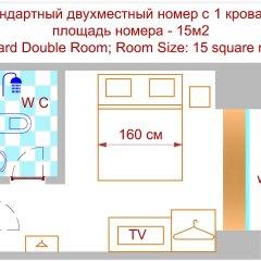 Аскет Отель на Комсомольской 3* Бюджетный номер с разными типами кроватей фото 13
