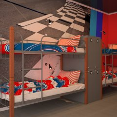 Hostel Racing Paradise Кровать в общем номере с двухъярусной кроватью фото 10