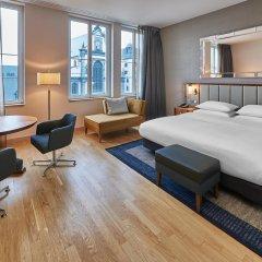Отель Hilton Cologne 4* Номер Делюкс разные типы кроватей фото 3