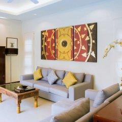 Отель Two Villas Holiday Oriental Style Layan Beach гостиная фото 6