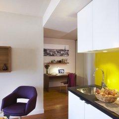 Отель Citadines Les Halles Paris кухня в номере