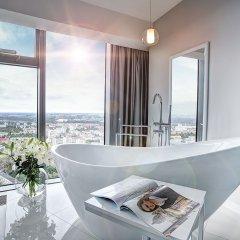 Отель Apartamenty Sky Tower Улучшенные апартаменты с различными типами кроватей фото 2