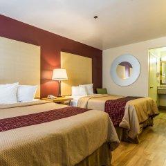 Отель Red Roof Inn Tulare - Downtown/Fairgrounds 2* Стандартный номер с различными типами кроватей