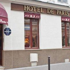 Отель De Paris Montmartre Париж вид на фасад фото 4