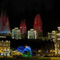 Отель Fairmont Baku at the Flame Towers вид на фасад фото 3
