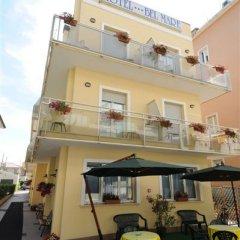Отель Bel Mare Римини вид на фасад
