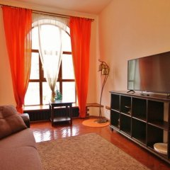 Апартаменты Four Squares Apartments Polyanka Москва комната для гостей фото 3
