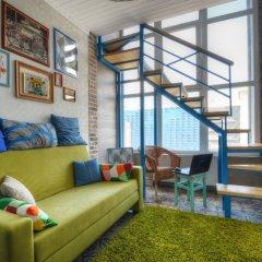 Гостиница Двухуровневый Лофт на Автозаводской / Lucky Star Апартаменты с двуспальной кроватью фото 26