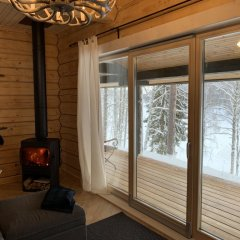 База Отдыха Forrest Lodge Karelia Улучшенный шале с разными типами кроватей фото 17