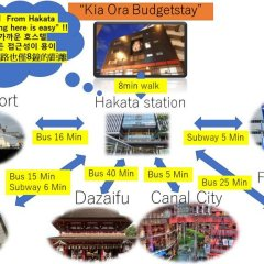 Отель Khaosan Fukuoka Annex Хаката городской автобус