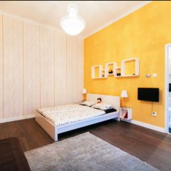 Апартаменты Bpm - Sunny Apartment Будапешт комната для гостей фото 2