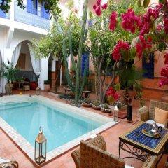 Отель Riad Les Cigognes Марокко, Марракеш - отзывы, цены и фото номеров - забронировать отель Riad Les Cigognes онлайн бассейн фото 2