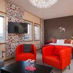 Отель Hotell Fridhemsgatan 3* Стандартный семейный номер с различными типами кроватей фото 8