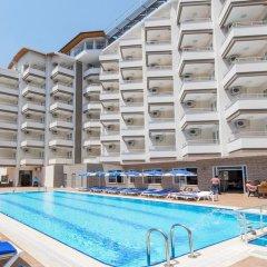 Grand Atilla Hotel Турция, Аланья - 14 отзывов об отеле, цены и фото номеров - забронировать отель Grand Atilla Hotel онлайн бассейн фото 3
