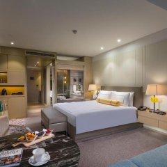 Отель InterContinental Shanghai Jing' An 5* Улучшенный номер с различными типами кроватей фото 3