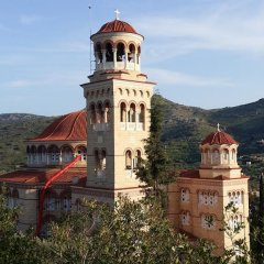 Отель Rachel Hotel Греция, Эгина - 1 отзыв об отеле, цены и фото номеров - забронировать отель Rachel Hotel онлайн приотельная территория фото 2