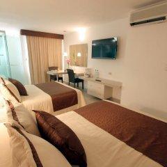 Отель Plaza Caribe Мексика, Канкун - отзывы, цены и фото номеров - забронировать отель Plaza Caribe онлайн комната для гостей фото 7
