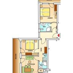 Hotel Garni Fiegl Apart 3* Стандартный номер фото 14