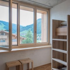 Youth Hostel Gstaad Saanenland Кровать в общем номере с двухъярусной кроватью фото 6