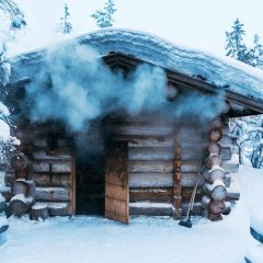 Отель Kakslauttanen Arctic Resort - Igloos and Chalets бассейн фото 2