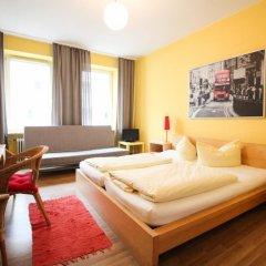 Отель Pension/Guesthouse am Hauptbahnhof Стандартный номер с двуспальной кроватью (общая ванная комната) фото 15