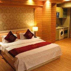 Апартаменты She & He Service Apartment - Huifeng Номер Делюкс с различными типами кроватей фото 6