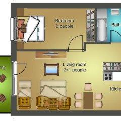 Апартаменты Sun Resort Apartments Улучшенные апартаменты с различными типами кроватей фото 7