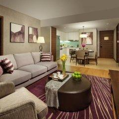 Отель Ascott Raffles City Chengdu Улучшенные апартаменты с различными типами кроватей фото 2