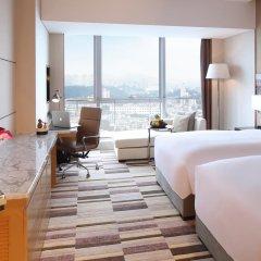 Отель Langham Place Xiamen 5* Улучшенный номер с различными типами кроватей фото 2