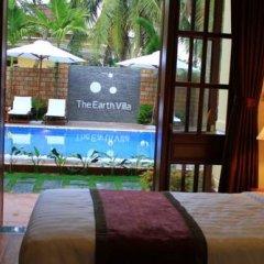 Отель The Earth Villa 3* Улучшенный номер с различными типами кроватей фото 6