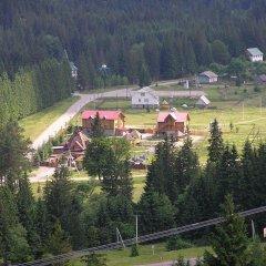 Гостиница Медведь Волосянка приотельная территория фото 7
