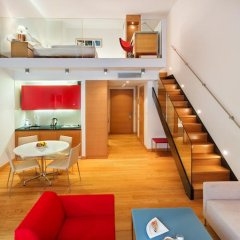 Отель Andel's by Vienna House Prague 4* Стандартный номер с различными типами кроватей фото 3