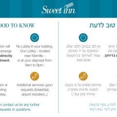 Sweet Inn Apartments - Molcho Street Израиль, Иерусалим - отзывы, цены и фото номеров - забронировать отель Sweet Inn Apartments - Molcho Street онлайн городской автобус