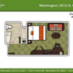 Отель Courtyard Washington, DC/U.S. Capitol 3* Стандартный номер с различными типами кроватей