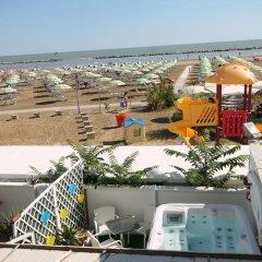 Hotel Belvedere Spiaggia Римини пляж фото 2