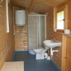 Отель Camping Amerika Чехия, Франтишкови-Лазне - отзывы, цены и фото номеров - забронировать отель Camping Amerika онлайн ванная