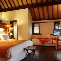 Отель Sofitel Moorea la Ora Beach Resort 5* Бунгало Luxury с различными типами кроватей фото 2