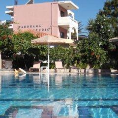 Отель Panorama Studios Родос бассейн