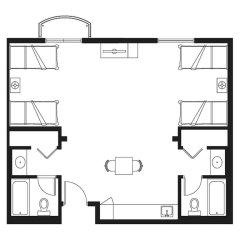Garden Villa Hotel 3* Студия с различными типами кроватей фото 5