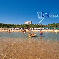 Club Hotel Le Nazioni пляж