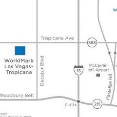 Отель WorldMark Las Vegas Tropicana США, Лас-Вегас - отзывы, цены и фото номеров - забронировать отель WorldMark Las Vegas Tropicana онлайн ванная