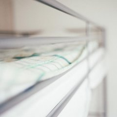 Хостел Крыша Кровать в женском общем номере двухъярусные кровати фото 7
