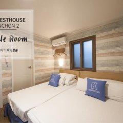 Отель K-guesthouse Sinchon 2 2* Стандартный номер с различными типами кроватей фото 3