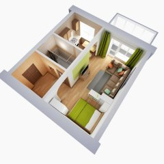 Апартаменты Альфа Апартаменты Красный Путь Студия с различными типами кроватей фото 28