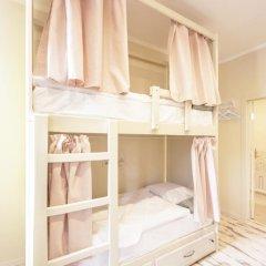 Волхонка хостел Кровать в общем номере с двухъярусными кроватями фото 3
